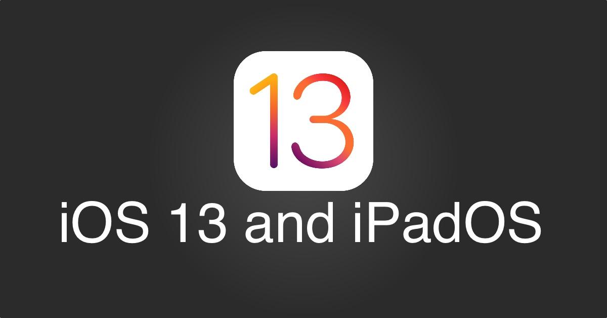 ios 13 ve ipados