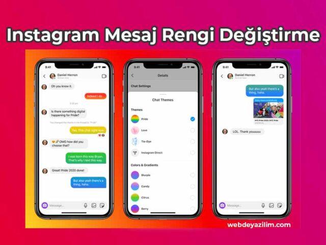 Instagram Mesaj Rengi Değiştirme - Android & iPhone ️ 2021