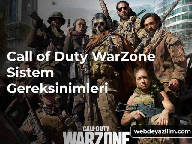 Call of Duty Warzone Sistem Gereksinimleri