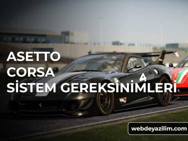 Asetto Corsa Sistem Gereksinimleri