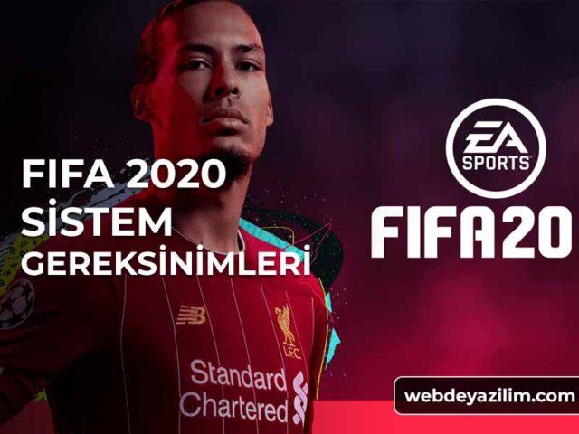 FIFA 2020 Sistem Gereksinimleri - Donanım Özellikleri