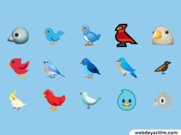 Kuş Emojisi 🐦 Kuş Emojisi Kopyalama ve Yapımı