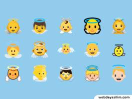 Melek Emojisi 😇👼 Melek Emojisi Kopyalama ve Yapımı
