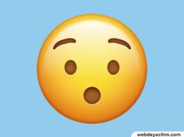 Şaşırma Emojisi 😲😱 Şaşırma Emojisi Kopyalama ve Yapımı