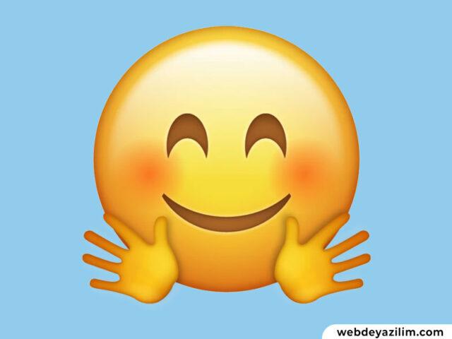 Sarılma Emojisi 🤗 Sarılma Emojisi Kopyalama ve Yapımı